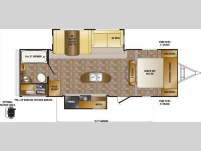 Floorplan - 2014 CrossRoads RV Sunset Trail Reserve ST26RB