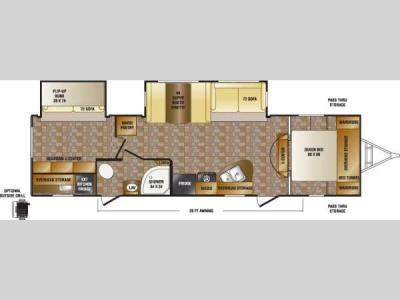 Floorplan - 2014 CrossRoads RV Sunset Trail Reserve ST32BH