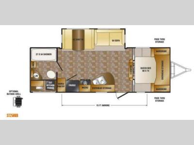 Floorplan - 2014 CrossRoads RV Sunset Trail Super Lite ST250RB