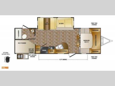 Floorplan - 2014 CrossRoads RV Sunset Trail Super Lite ST270BH