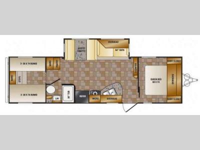Floorplan - 2014 CrossRoads RV Z 1 ZT301BH