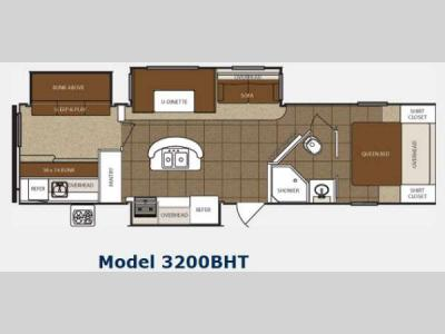 Floorplan - 2014 Prime Time Manufacturing Tracer 3200BHT