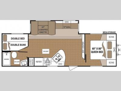 Floorplan - 2014 Dutchmen RV Aspen Trail 2810BHS