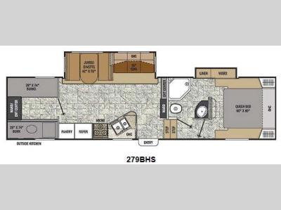 Floorplan - 2014 Coachmen RV Chaparral Lite 279BHS