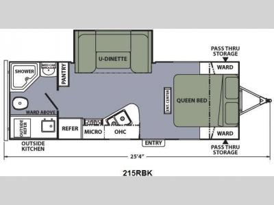Floorplan - 2014 Coachmen RV Apex Ultra-Lite 215RBK