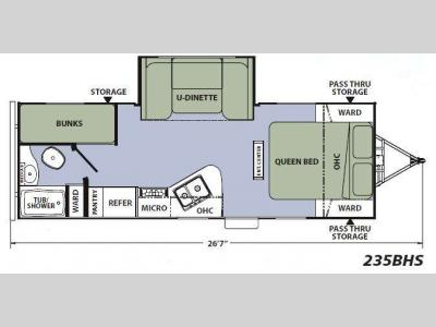 Floorplan - 2014 Coachmen RV Apex Ultra-Lite 235BHS