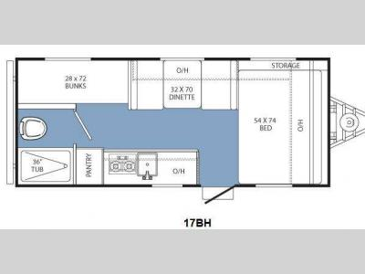 Floorplan - 2014 Coachmen RV Clipper Ultra-Lite 17BH