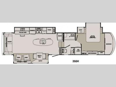 Floorplan - 2014 Redwood RV Redwood 38GK