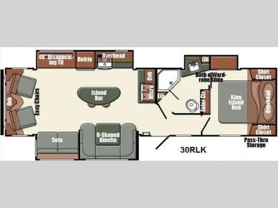 Floorplan - 2014 Gulf Stream RV Gulf Breeze Champagne Series 30RLK