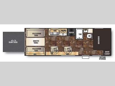 Floorplan - 2014 Forest River RV Cherokee Grey Wolf 25RR