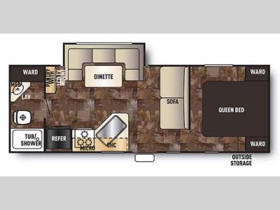 Floorplan - 2014 Forest River RV Cherokee Grey Wolf 23BD