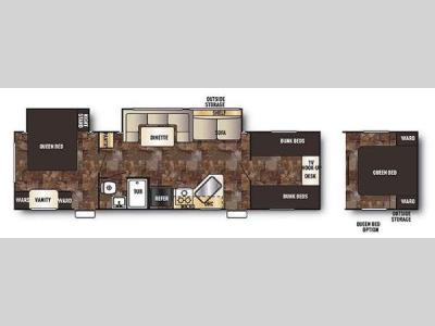 Floorplan - 2014 Forest River RV Cherokee Grey Wolf 29DSFB