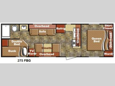 Floorplan - 2014 Gulf Stream RV Kingsport 275 FBG SE Series