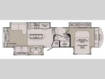 Floorplan - 2014 CrossRoads RV Rushmore Jefferson RF39JE