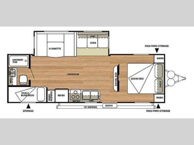 Floorplan - 2014 Forest River RV Salem 26TBUD