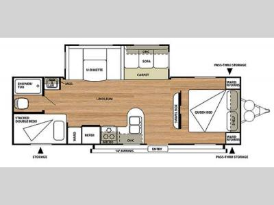Floorplan - 2014 Forest River RV Salem 27DBUD