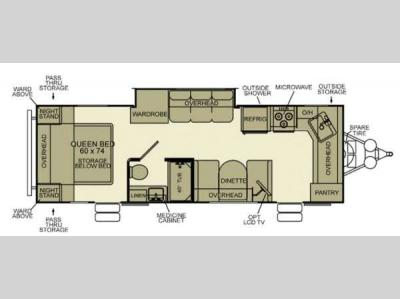 Floorplan - 2014 EverGreen RV Ever-Lite 26FK