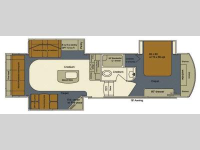 Floorplan - 2014 EverGreen RV Bay Hill 295RL