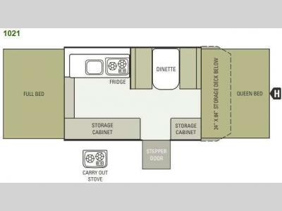 Floorplan - 2014 Starcraft  Comet 1021