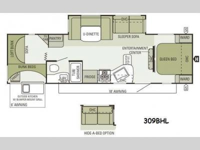Floorplan - 2014 Starcraft  Autumn Ridge 309BHL