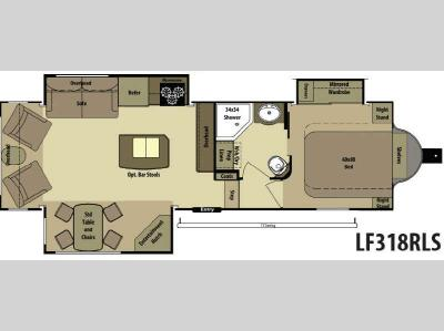 Floorplan - 2014 Open Range RV Light LF318RLS