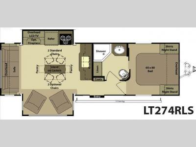 Floorplan - 2014 Open Range RV Light LT274RLS
