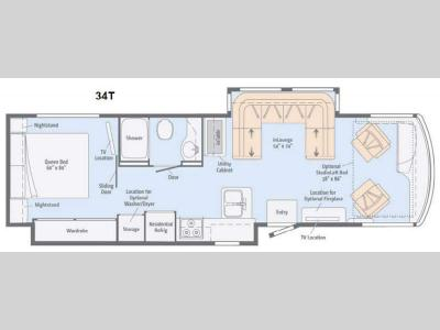 Floorplan - 2014 Winnebago Forza 34T