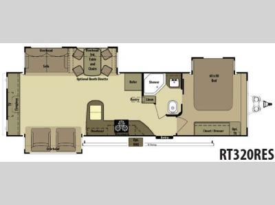 Floorplan - 2014 Open Range RV Roamer RT320RES