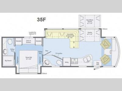 Floorplan - 2014 Winnebago Vista 35F