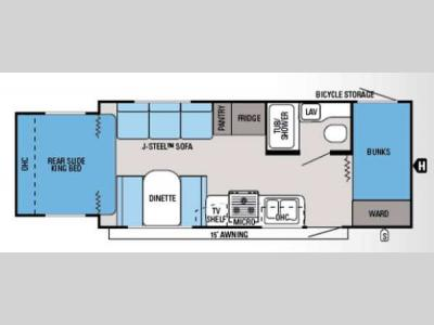 Floorplan - 2014 Jayco Jay Feather Ultra Lite X213