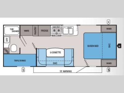 Floorplan - 2014 Jayco Jay Feather Ultra Lite 228