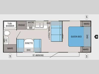 Floorplan - 2014 Jayco Jay Flight 22FB