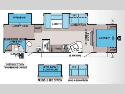 Floorplan - 2014 Jayco Jay Flight 32BHDS