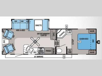Floorplan - 2014 Jayco Eagle 28 5RLS