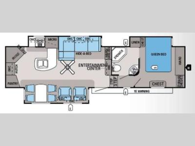Floorplan - 2014 Jayco Eagle 33 5RKTS