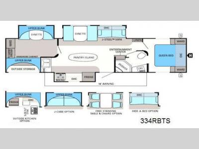 Floorplan - 2014 Jayco Eagle 334RBTS