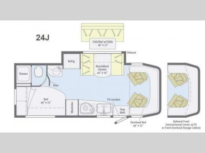 Floorplan - 2014 Winnebago View 24J