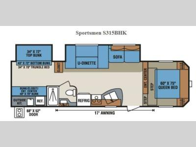 Floorplan - 2014 KZ Sportsmen S315BHK