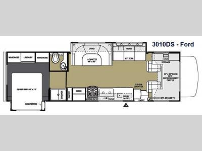Floorplan - 2014 Forest River RV Sunseeker 3010DS Ford