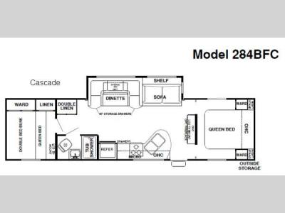 Floorplan - 2014 Forest River RV Cherokee Cascade 284BF