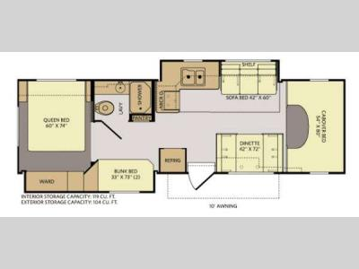 Floorplan - 2014 Fleetwood RV Jamboree Sport 31N