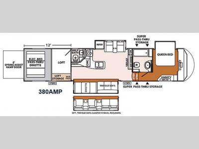 Floorplan - 2014 Forest River RV XLR Thunderbolt 380AMP