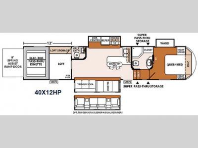Floorplan - 2014 Forest River RV XLR Thunderbolt 40X12HP