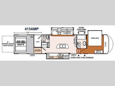 Floorplan - 2014 Forest River RV XLR Thunderbolt 415AMP