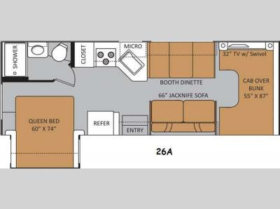 Floorplan - 2014 Thor Motor Coach Four Winds 26A