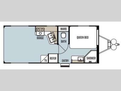 Floorplan - 2014 Forest River RV Work and Play Ultra Lite 21UL