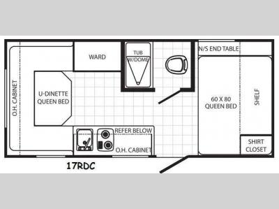 Floorplan - 2014 Palomino Canyon Cat 17RDC