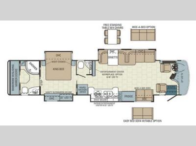 Floorplan - 2014 Entegra Coach Aspire 42RBQ