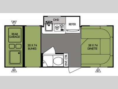 Floorplan - 2014 Forest River RV R Pod RP 182G