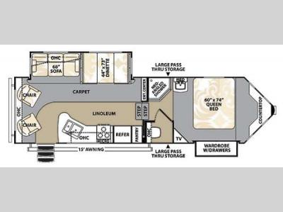 Floorplan - 2013 Forest River RV V-Cross Platinum 275VRL